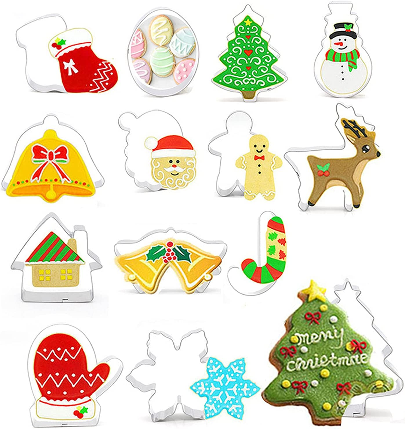14 4 years warranty pieces of Christmas Holiday I Cookie Cutters Mail order