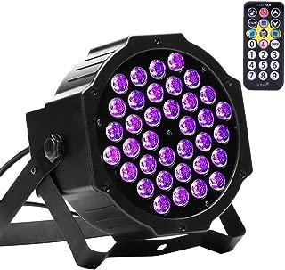 U`King 72W Black Lights UV LED Black Light Glow Effect by DMX Control for Blacklight Party Birthday Wedding DJ Stage Lighting