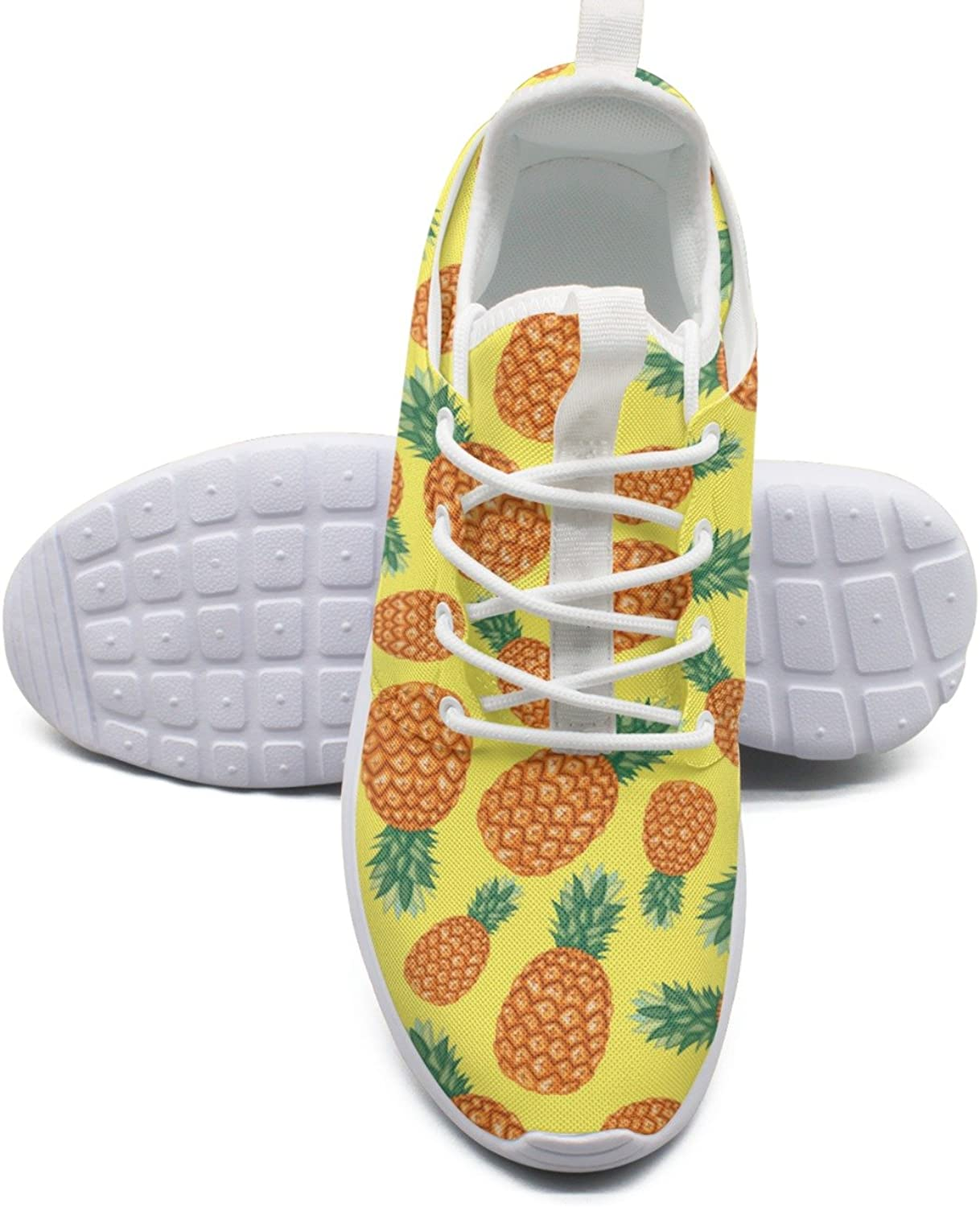 Ananas Pineapple Tropical Fruit Pattern Running Basketball shoes Women size 8