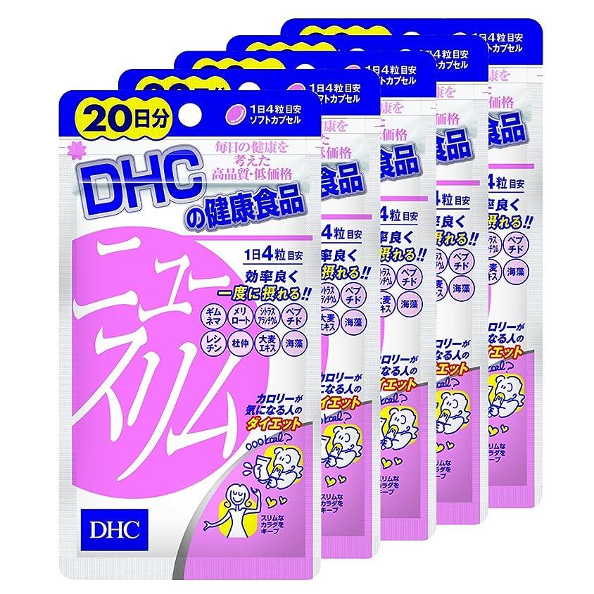 レンダリング残高著作権【セット品】DHC ニュースリム 20日分 80粒 5袋セット