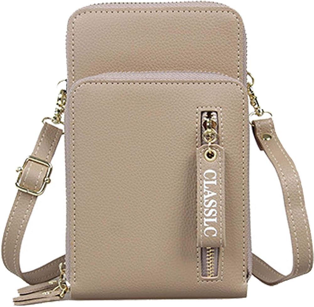 Coopay crossbody portafoglio porta carte di credito porta cellulare da donna con tracolla in pelle sintetica COOPAYXK0004