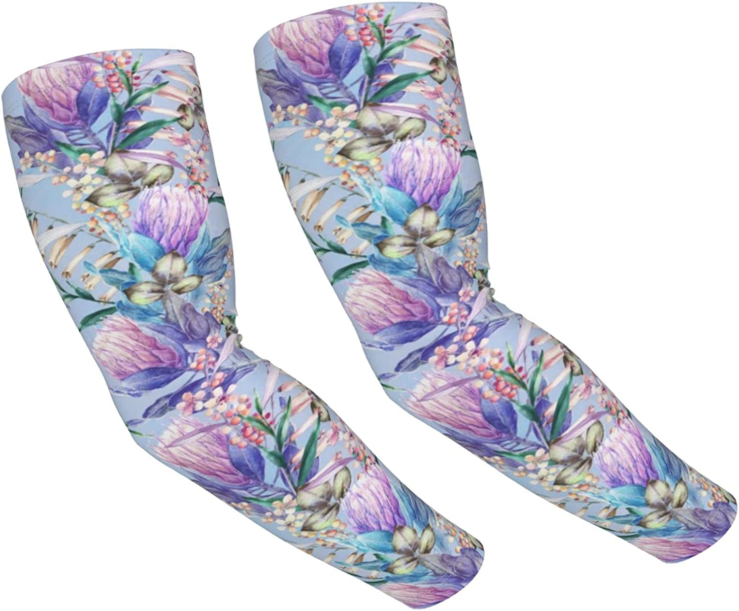 Purple flower Mesa Mall clusters in Our shop OFFers the best service watercolor Sun Prot Arm Unisex Sleeves