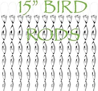 junicute Bird Repellent Wind Twisting Scare Blinder Rods Reflective Ornamental Spiral Deterrent Device(15