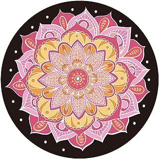 Yoga mat Round Yoga mat, Natural Rubber Yoga mat Profession Sports Yoga Blanket Meditation pad Meditate Meditation Round Yoga mat 140x140cm SPFOZ (Color : #4)