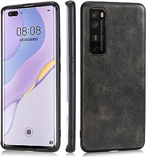Yuansx 携帯電話ケース Huawei Nova 7 Proの耐衝撃ケース 超薄型軽量スリムソフトTPUラバーレザー電話ケースカバー Huawei Nova 7 Pro対応用 (Color : Green)
