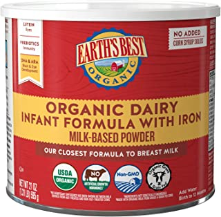 Earth's Best Organic Dairy Infant Powder Formula with Iron, Omega-3 DHA and Omega-6 ARA, 23.2 oz.