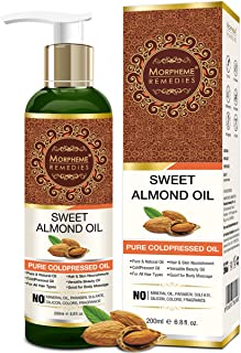 Morpheme Remedies Pure Sweet Almond Coldpressed Oil For Hair And Skin 120Ml