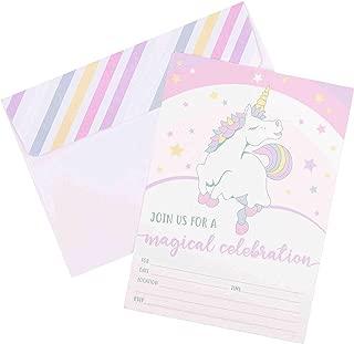 Best unicorn party birthday invitation Reviews