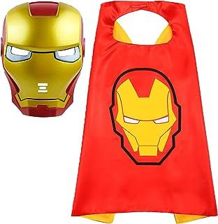 Fun Factorys Superhero Cape and Masks Superhero Iron Man Toy for 3-10 Year Old Boys Superhero Dress up Masks Kid Best Gifts