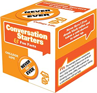 Never Have I Ever College Edition - Great Questions to Start Unforgettable Conversations - Best for College Parties, Sorority and Fraternity Get-Together's NSFW