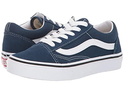 Vans Kids Old Skool (Little Kid/Big Kid) (Gibraltar Sea/True White) Boys Shoes