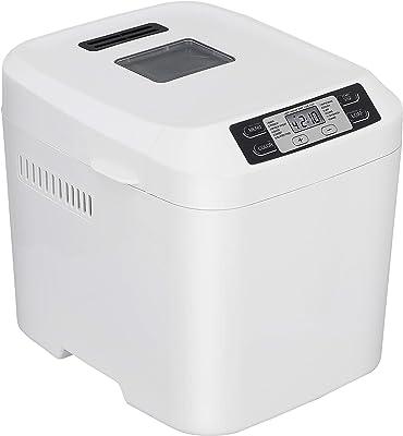 ZENY Bread Maker Machine 2 Lb Capacity Digital, Programmable 12 Settings, Dishwasher Safe Pan, White