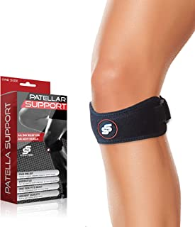 Patella Strap for Knee Pain Relief from Sleeve Stars - Knee Support for Arthritis, Osgood Schlatter, Runners Knee, Jumpers Knee, Tendonitis & Volleyball