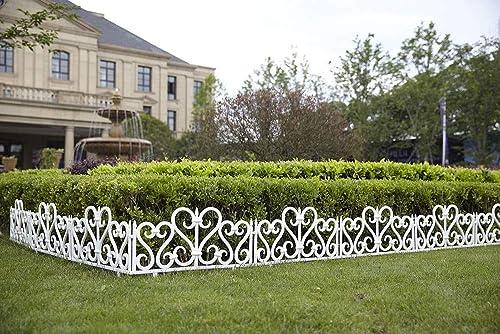 wholesale SkyMall wholesale Decorative 8 Piece Scroll Metal Look Garden Border outlet online sale Fence online sale