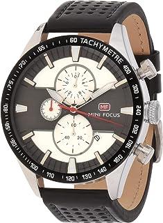 Mini Focus Mens Quartz Watch, Chronograph Display and Leather Strap - MF0002G.03
