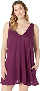 Becca by Rebecca Virtue Womens Plus Size Tank Dress Cover-Up