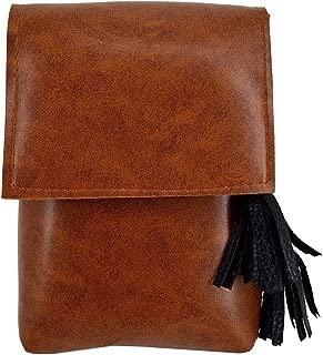 Sun Kea Fashion Lady Tassel Shoulder Bag Small Leather Crossbody Cell Phone Purse