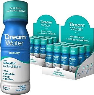 Sponsored Ad - Dream Water Natural Sleep Aid; Beauty, Melatonin, Biotin, Juvecol, 2.5oz Shot, 24 Count