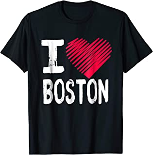 I Love Boston Massachusetts T-Shirt Heart Tourist Souvenir