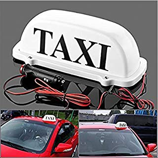 Ninth-City Waterproof Car Roof Top Taxi LED Light Cab Topper Taxi Sign Indicator Lights Lamp White