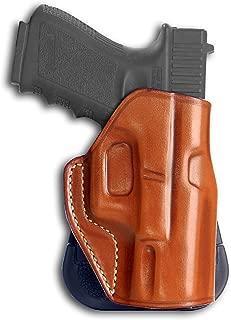Premium Leather OWB Paddle Holster with Open Top Ftis, Taurus 24/7,PT 738,PT 845,PT 92,Slim PT 709/740,Millenium Pro PT-111,PT-140,PT-145, Right Hand Draw, Brown Color
