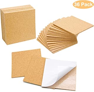 "U/_star 50 Pcs Self-Adhesive Cork Squares 4/"" x 4/"" Cork Tiles Square Cork Coasters Mini Wall Cork Tiles Cork Backing Sheets for Coasters and DIY Crafts"