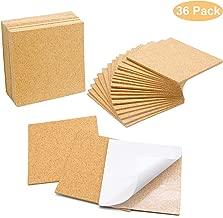 Blisstime 36 PCS Self-Adhesive Cork Sheets 4