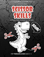 Sponsored Ad - Scissor Skills: A Fun Coloring & Cutting Practice Activity Book: Dinosaur RAWR For Toddlers & Kids Ages 3-5...