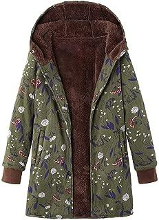 Clearance Sale Fleece Winter Coat Plus Size,Women Warm Parka Hooded Zipper Jacket
