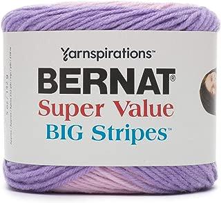 Bernat Super Value Big Stripes Yarn, 5 oz, Sweet Dreams, 1 Ball