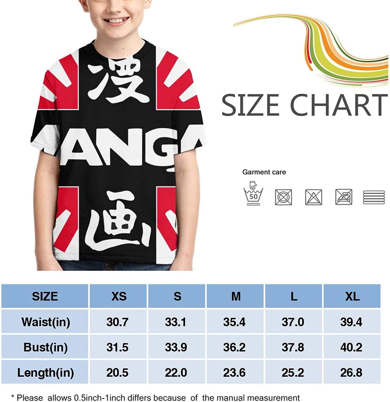 Akira Boys T-Shirt Kids Crewneck Short Sleeve Youth Shirt Teen Tee Tops Child