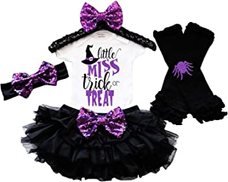 Baby Girl Halloween Costume Tutu Dress Witch Rompers+Leg Warmers+Headband Outfits