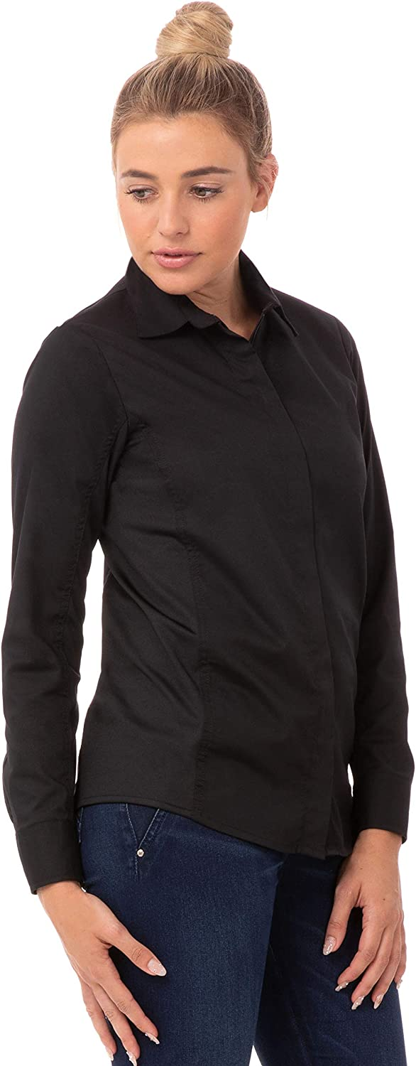 Chef Works Women's Shelby Zip Front Shirt