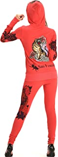 Women's Four Way Stretch Yoga Sets Lion Print Tiger Embroidery EMW18002
