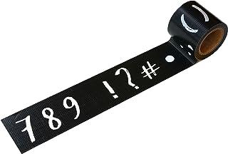小屋女子DIYカフェ 養生テープ 数字・記号 YJV-17 45mmx5m ブラック/グレー