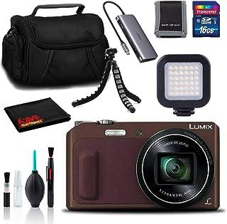 Panasonic Lumix DMC-ZS45 Digital Camera(Brown) - Bag, Tripod, 16GB SD, and More