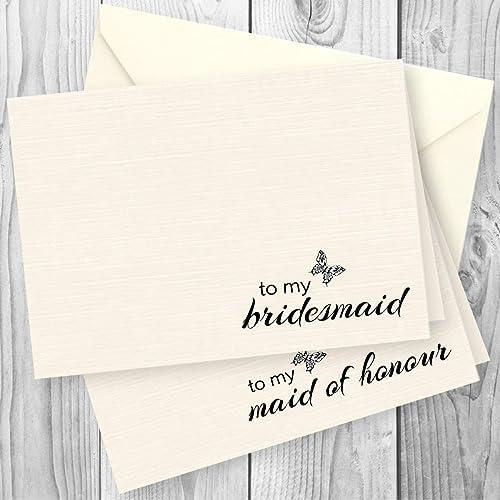 Bridesmaid Thank You Cards Amazon Co Uk
