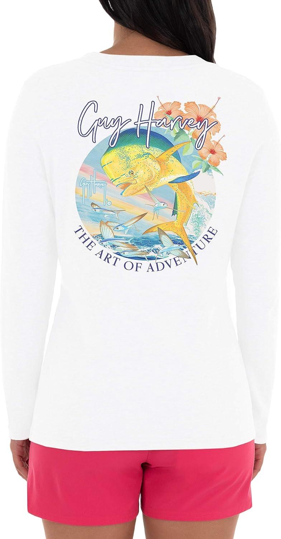 Guy Harvey Women's Graphic Long Sleeve T-Shirt