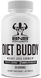 Diet Buddy - Weight Loss Supplement - Fat Burner - Appetite Suppressant - Thermogenic - 60 Easy to Swallow Tablets - by BNB Supplements