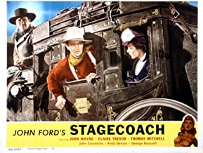 Posterazzi Stagecoach From Left: George Bancroft John Wayne Louise Platt 1939 Movie Masterprint Poster Print, (14 x 11)