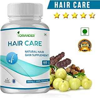Oriander Natural and Organic Hair Care Extract (800 mg) - Pack of 60 Capsules