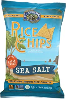 Lundberg Family Farms Sea Salt Rice Chips - Case of 12 - 6 oz.