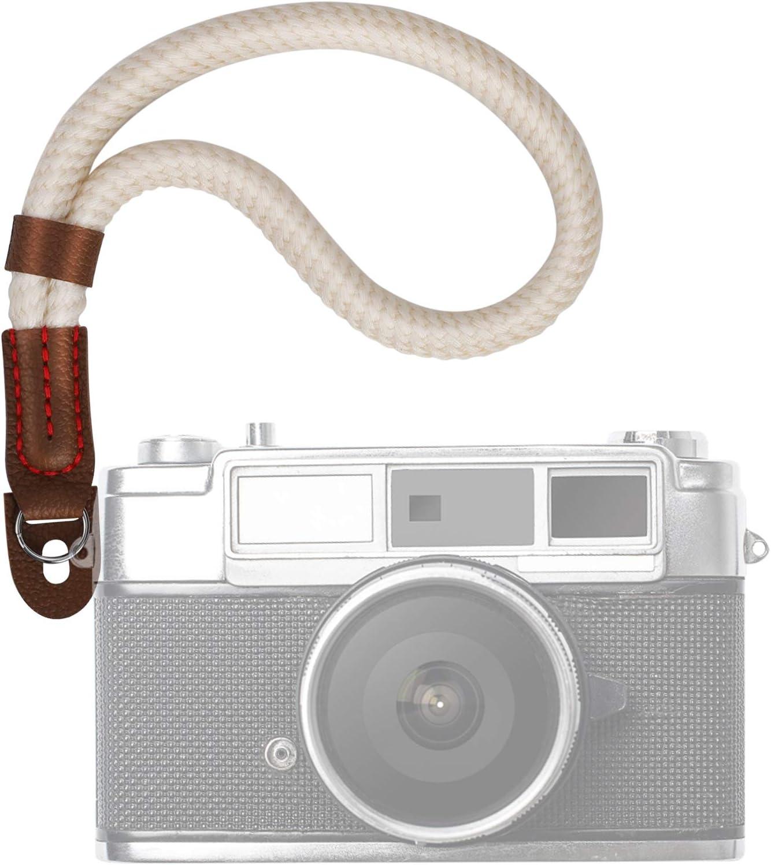Kamera Handschlaufe Universal Handgelenkschlaufe f/ür Systemkameras//Digitalkameras Handschlaufe f/ür Spiegellose Kameras Baumwoll Wrist Strap im Retro Look 23cm