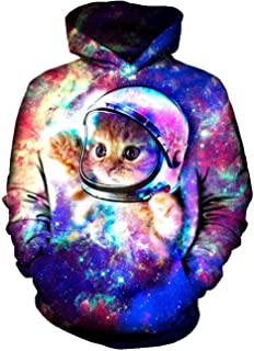 Goodstoworld Unisex 3D Hoodies Novelty Printed Pullover Sweatshirt with Pockets