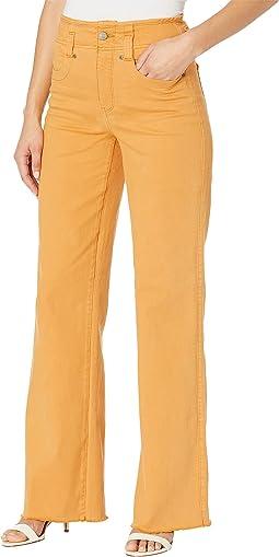 Higher Rise Teresa Wide Leg Jeans in Golden Blossom