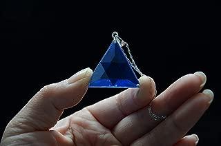 Blue Siberian Crystal Quartz Star of David Marcel Vogel Cut 1.22 Inch 925 Silver Sterling