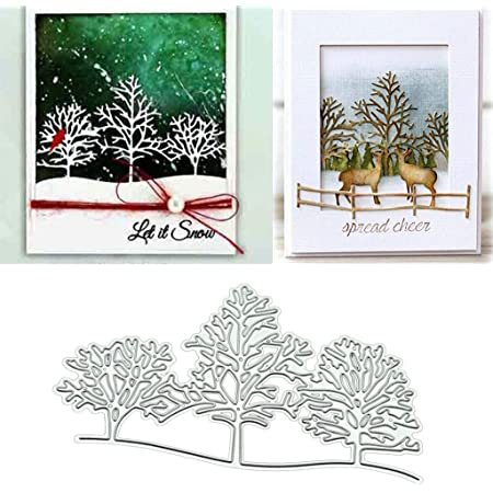 Oyov2L Christmas Tree Cutting Die Scrapbook Emboss Mold Paper Cards Making Album Decor Cards Craft Cutting Dies Handicrafts