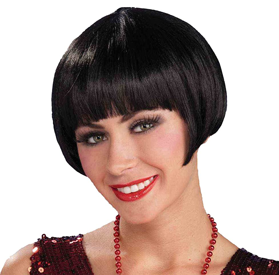 Charleston Chic Black Flapper Wig dls085416531513