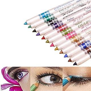 Wowlife Waterproof 12 Ultra Bright Colors Durable Eyeliner Eyeshadow Lip Liner Eye Shadow Pen Cosmetic Makeup Tools