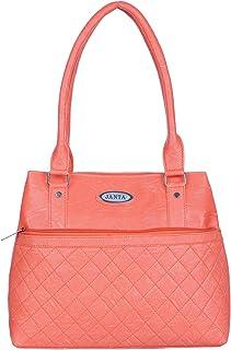 Janta PU Leather Women Shoulder Bag (Orange-3323)